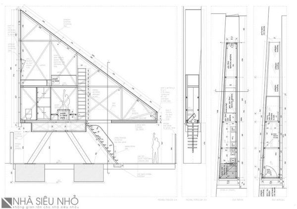 Ngôi nhà nằm giữa 2 tòa nhà Zelazna và Chlodna, nơi rộng nhất là 152cm và hẹp nhất là 92cm.
