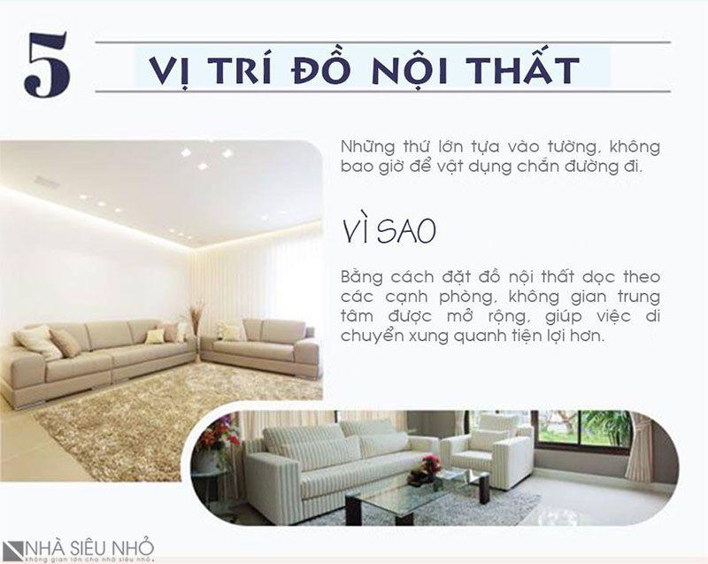 5. Vị trí đồ nội thất
