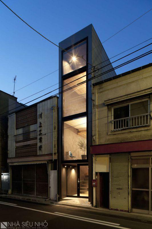 Phối cảnh ngôi nhà 30m2, bề ngang 1,8m