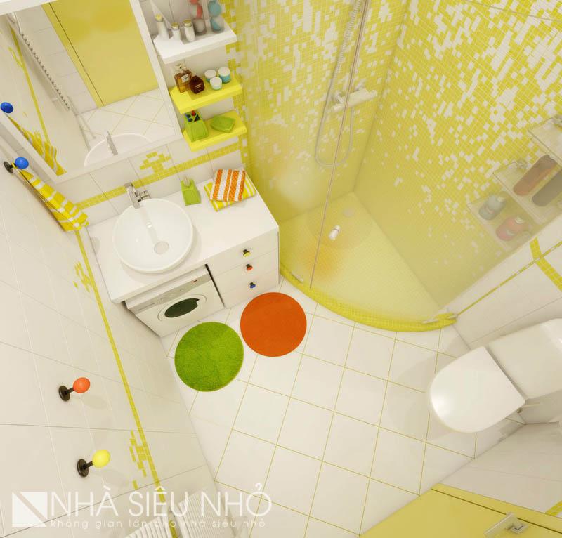 Nhà vệ sinh thực sự rất nhỏ, và cũng rất đẹp