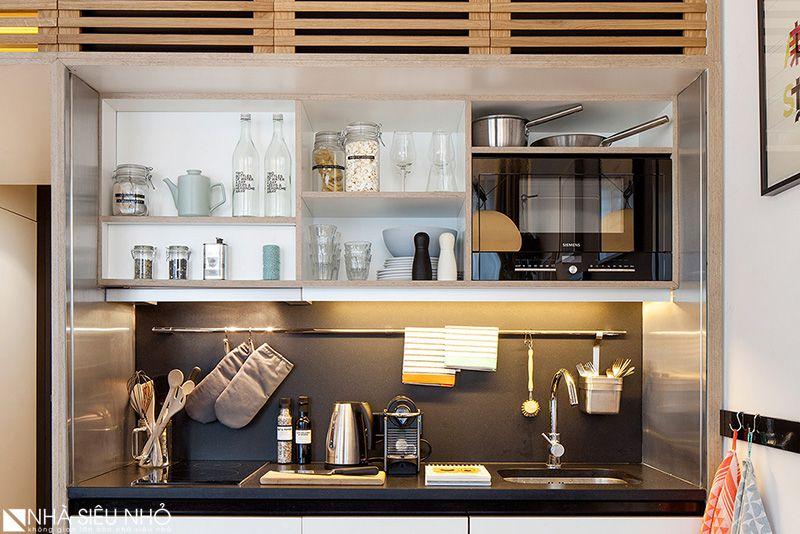 Khu bếp với đầy đủ tiện nghi hiện đại.