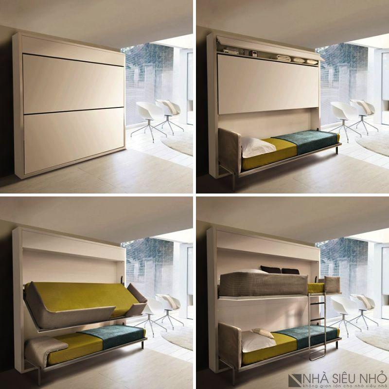 Giường tầng gập nội thất thông minh