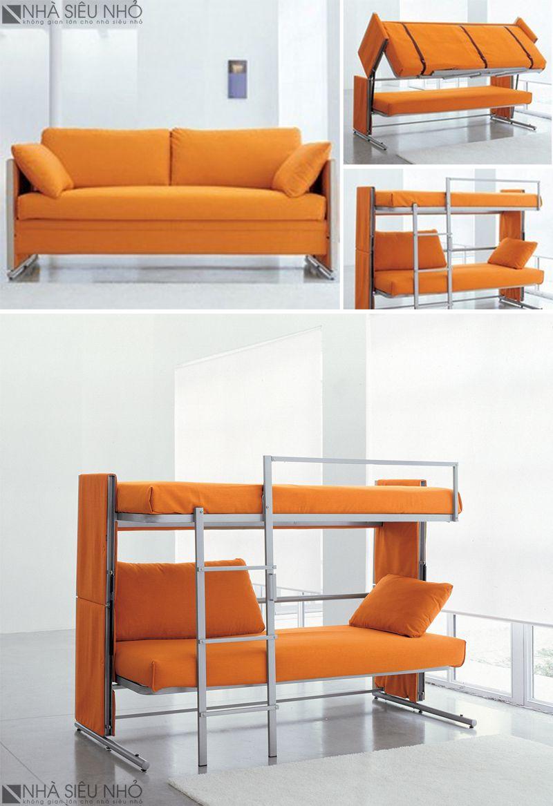 Sofa-Giường tầng, nội thất thông minh 2 trong 1