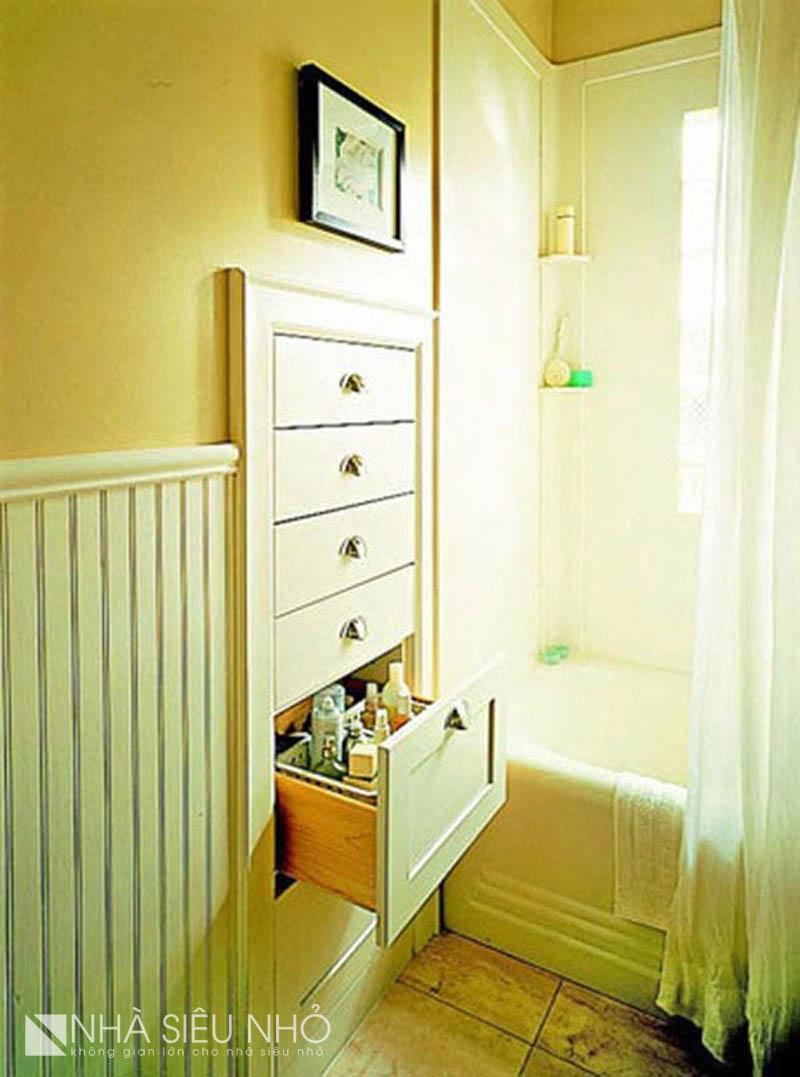 Tủ âm tường là một phương pháp luôn hữu hiệu với mọi không gian cần gọn gàng ngăn nắp